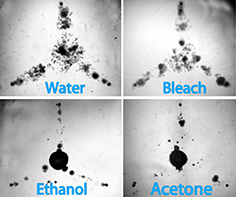 Microbubbles in different liquids