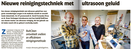 Article in 'TC Tubantia - De Ondernemer'