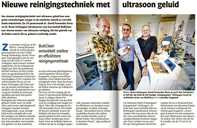TC Tubantia - De Ondernemer article on BuBclean