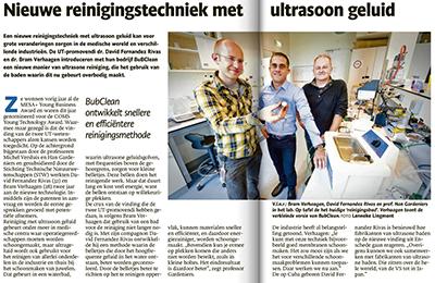 TC Tubantia - De Ondernemer article on BuBclean