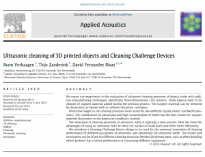 Cleaning for 3D printing