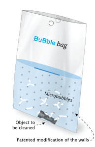 BuBble bags for ultrasonic cleaning